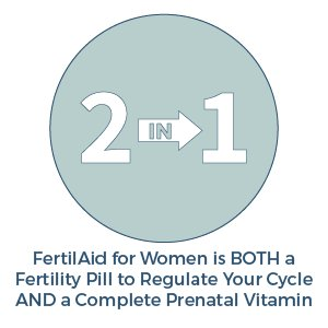 FertilAid for Women is BOTH a Fertility Pill and Prenatal Vitamin