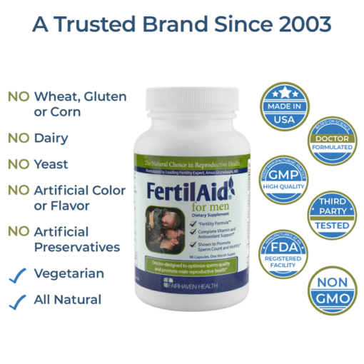 FertilAid for Men All Natural and Vegetarian