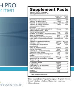 FH PRO for Men Supplement Facts