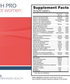 FH PRO Women Supplement Facts