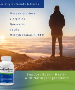MotilityBoost for Men - Support Sperm Health w/ Natural Ingredients