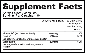 PeaPod Cal-Mag Ingredients