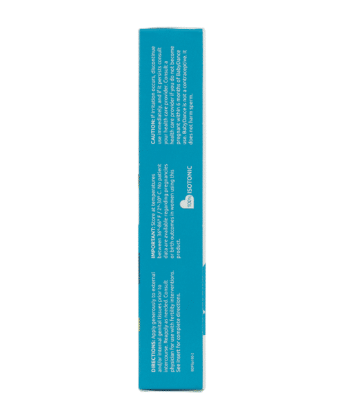 BabyDance Fertility Lubricant Back Directions
