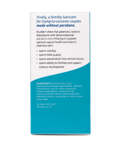 BabyDance Fertility Lubricant Back