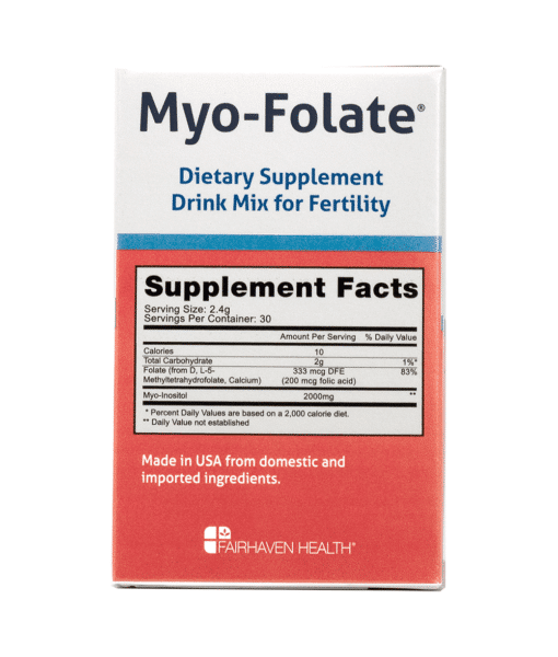 Myo-Folate Supplement Facts