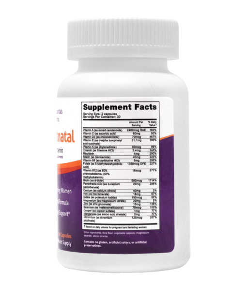 Nursing Postnatal Supplement Facts